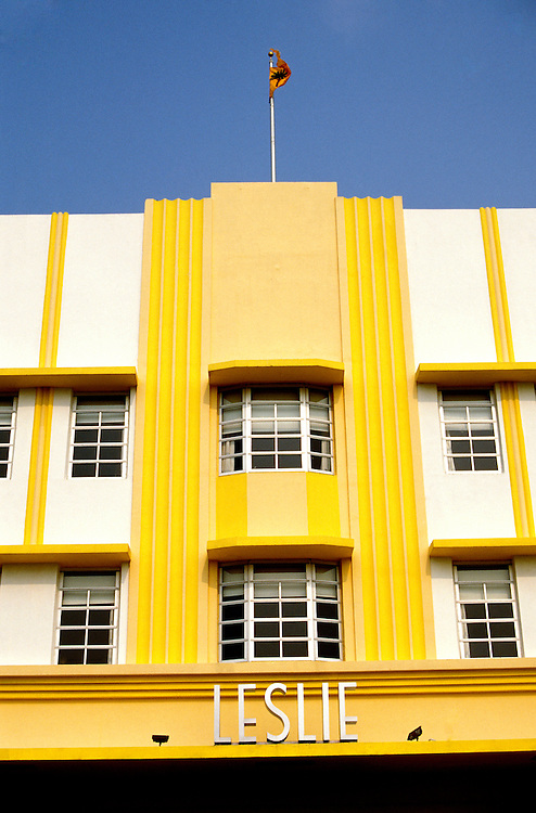 Florida, Miami: Art Deco South Beach.  Photo #: flmiam103.  Photo copyright Lee Foster, 510/549-2202, lee@fostertravel.com, www.fostertravel.com