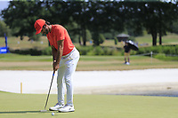 Joel Stalter (FRA) putts on the 17th green during Saturday's Round 3 of the Porsche European Open 2018 held at Green Eagle Golf Courses, Hamburg Germany. 28th July 2018.<br /> Picture: Eoin Clarke | Golffile<br /> <br /> <br /> All photos usage must carry mandatory copyright credit (&copy; Golffile | Eoin Clarke)