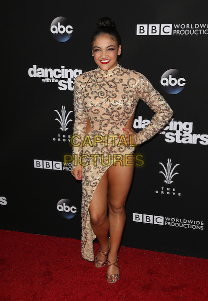 Los Angeles, CA - NOVEMBER 22: Laurie Hernandez, At ABC's &quot;Dancing With The Stars&quot; Season 23 Finale At The Grove, California on November 22, 2016. <br /> CAP/MPI/FS<br /> &copy;FS/MPI/Capital Pictures