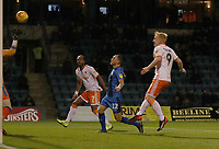 Blackpool's Nathan Delfouneso scores his side's first goal  <br /> <br /> Photographer Rachel Holborn/CameraSport<br /> <br /> The EFL Sky Bet League One - Gillingham v Blackpool - Tuesday 6th November 2018 - Priestfield Stadium - Gillingham<br /> <br /> World Copyright &copy; 2018 CameraSport. All rights reserved. 43 Linden Ave. Countesthorpe. Leicester. England. LE8 5PG - Tel: +44 (0) 116 277 4147 - admin@camerasport.com - www.camerasport.com
