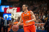VALENCIA, SPAIN - MARCH 8: San Emeterio during ENDESA LEAGUE match between Valencia Basket Club and Barcelona at Fonteta Stadium on March, 2016 in Valencia, Spain