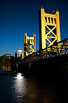 The Tower Bridge spans the Sacramento River between West Sacramento and Sacramento, California, August 15, 2015.