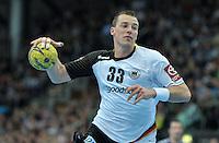 Handball - All Star Game 2014 am 01.02.2014 in der Arena Leipzig (Sachsen). Wie bereits in den Vorjahren misst sich die Handball Nationalmannschaft mit einer Auswahl von Spielern der DKB Handball-Bundesliga. <br /> IM BILD: Dominik Klein (Nationalmannschaft) <br /> Foto: Christian Nitsche