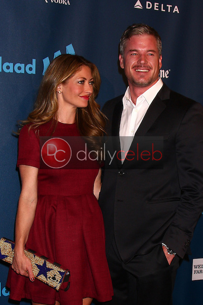 Rebecca Gayheart, Eric Dane<br /> at the 24th Annual GLAAD Media Awards, JW Marriott, Los Angeles, CA 04-20-13<br /> David Edwards/DailyCeleb.Com 818-249-4998