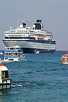 The cruise ship Zenith anchored off Georgetown, Cayman Islands in the Caribbean