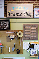 The TROSA frame shop in downtown Durham.