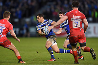 Jackson Willison of Bath Rugby goes on the attack. Gallagher Premiership match, between Bath Rugby and Sale Sharks on December 2, 2018 at the Recreation Ground in Bath, England. Photo by: Patrick Khachfe / Onside Images