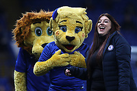 Chelsea mascots, Stamford and Bridget walk around the ground pre-match during Chelsea vs Arsenal, Caraboa Cup Football at Stamford Bridge on 10th January 2018