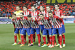 Atletico de Madrid's team photo with Jan Oblak, Jose Maria Gimenez, Gabi Fernandez, Filipe Luis, Saul Niguez, Diego Godin, Antoine Griezmann, Juanfran Torres, Augusto Fernandez, Koke Resurrecccion and Yannick Carrasco during UEFA Champions League match. March 15,2016. (ALTERPHOTOS/Acero)