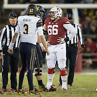 STANFORD, CA - November 18, 2017: Harrison Phillips at Stanford Stadium. The Stanford Cardinal defeated Cal 17-14 to win its eighth straight Big Game.