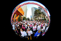 More than 16,000 people raised $1.6 million in pledges and donations during the 14th annual Susan G. Komen Race for the Cure event in Charlotte, NC. The event was held October 2, 2010 in downtown / uptown Charlotte.