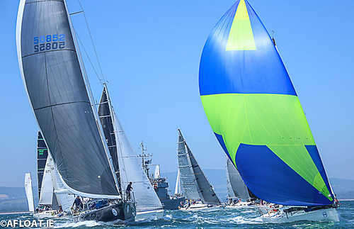 The JPK 10.80 Rockabill VI (Paul O'Higgins, RIYC, right) is current ISORA and Dun Laoghaire-Dingle Champion