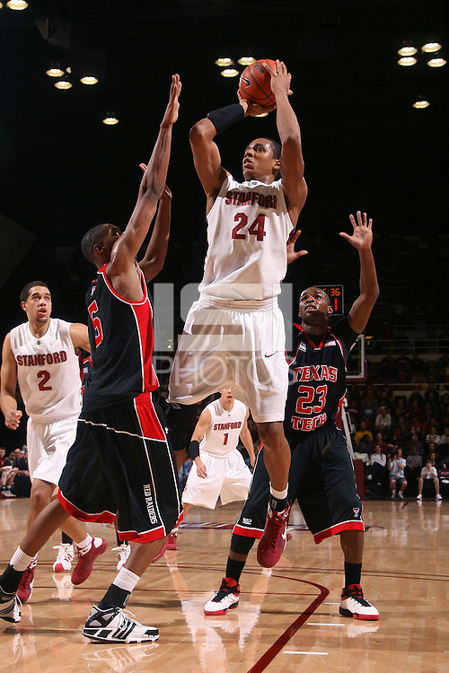 Stanford, CA - DECEMBER 28:  Forward Josh Owens #24 of the Stanford Cardinal during Stanford's 111-66 win against the Texas Tech Red Raiders on December 28, 2008 at Maples Pavilion in Stanford, California.