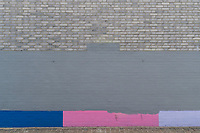 Abstract painted wall. Walk from Telegraph Hill to Burgess Park, South East London,England, UK
