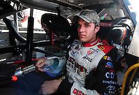May 2, 2008; Richmond, VA, USA; NASCAR Nationwide Series driver David Ragan during the Lipton Tea 250 at the Richmond International Raceway. Mandatory Credit: Mark J. Rebilas-