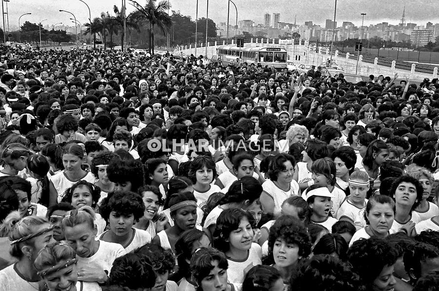 Maratona feminina da Avon, Parque do Ibirapuera. São Paulo. 1983. Foto de Juca Martins.