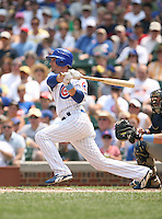 Ryan Theriot of the Chicago Cubs vs. the San Diego Padres: June 18th, 2007 at Wrigley Field in Chicago, IL.  Photo by Mike Janes/Four Seam Images