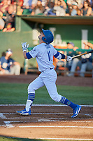 Tre Todd (11) of the Ogden Raptors bats against the Helena Brewers at Lindquist Field on July 14, 2018 in Ogden, Utah. Ogden defeated Helena 8-6. (Stephen Smith/Four Seam Images)