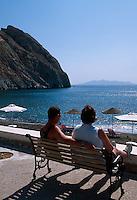 Strand von Perissa, Insel Santorin (Santorini), Griechenland, Europa