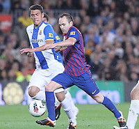 5/05/2012. Barcelona, Spain. La Liga. Picture show Andres Iniesta in action during match FC Barcelona against RCD ESpanyol at Camp Nou