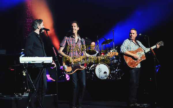 HAMILTON, ON - FEBRUARY 1  Kevin Hearn, Jim Creeggan, Tyler Stewart and Ed Robertson of Barenaked Ladies perform on stage at Hamilton Place Theatre. <br /> CAP/ADM/BPC<br /> &copy;Brent Perniac/AdMedia/Capital Pictures