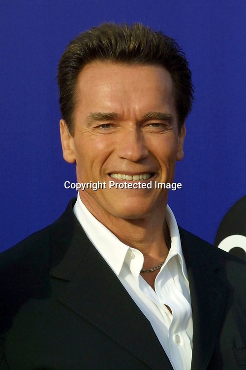 ©2002 KATHY HUTCHINS / HUTCHINS PHOTO.2002 WORLD STUNT AWARDS.SANTA MONICA, CA 5/19/02.ARNOLD SCHWARZENEGGER