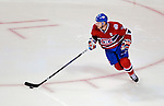 11 November 2008:  Montreal Canadiens' center and Team Captain Saku Koivu from Finland initiates a play from his end in the third period against the Ottawa Senators at the Bell Centre in Montreal, Quebec, Canada. The Canadiens defeated the visiting Senators 4-0. ***Editorial Sales Only***..Mandatory Photo Credit: Ed Wolfstein Photo *** Editorial Sales through Icon Sports Media *** www.iconsportsmedia.com