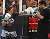 Female mixed martial arts fighter Jennie Nedell trains with Ray Longo at Longo-Weidman MMA in Garden City on Friday, July 7, 2017.