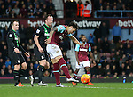 West Ham's Mauro Zarate fires against the post<br /> <br /> Barclays Premier League - West Ham United v Stoke City - Upton Park - England -12th December 2015 - Picture David Klein/Sportimage