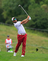 Filip Mruzek (CZE) on the 5th fairway during Round 1 of the D+D Real Czech Masters at the Albatross Golf Resort, Prague, Czech Rep. 31/08/2017<br /> Picture: Golffile | Thos Caffrey<br /> <br /> <br /> All photo usage must carry mandatory copyright credit     (&copy; Golffile | Thos Caffrey)