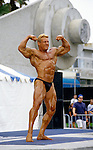 Muscle man competition,  Muscle Beach, Venice, CA 1998