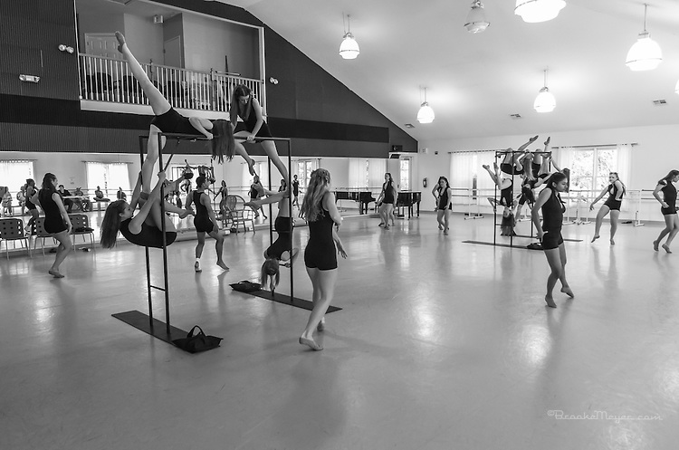 "Studio Rehearsal, 3D Project Jazz Company ""IX"", 9th Annual Spring Showcase, Cary Ballet Conservatory, 14 April 2012."