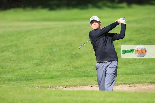 Hannes Ronneblad (SWE) during round 1 of the Irish Challenge, Mount Wolseley Hotel and Golf Resort, Tullow, Co Carlow, Ireland 14/09/2017<br /> Picture: Fran Caffrey / Golffile<br /> <br /> All photo usage must carry mandatory copyright credit (&copy; Golffile   Fran Caffrey)