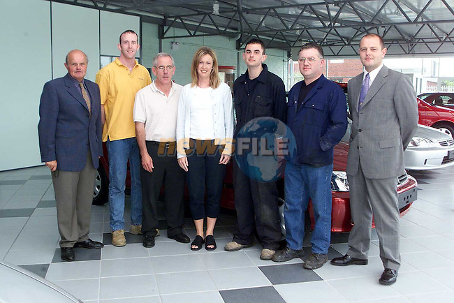 The staff at Tom Fox Car Sales. From Left Tom fox, Ollie McHugh, Joe Leech, Aine Goring, Shane Clarke, Tommy Goring and Ronan Fox..Picture Paul Mohan Newsfile
