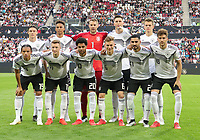 Mannschaftsfoto vs Estland: hinten:Nico Schulz (Deutschland Germany), Thilo Kehrer (Deutschland Germany), Torwart Manuel Neuer (Deutschland Germany), Niklas Süle (Deutschland Germany), Matthias Ginter (Deutschland Germany), vorn: Leroy Sane (Deutschland Germany), Marco Reus (Deutschland, Germany), Serge Gnabry (Deutschland Germany), Joshua Kimmich (Deutschland Germany), Ilkay Gündogan (Deutschland, Germany), Leon Goretzka (Deutschland, Germany) - 11.06.2019: Deutschland vs. Estland, OPEL Arena Mainz, EM-Qualifikation DISCLAIMER: DFB regulations prohibit any use of photographs as image sequences and/or quasi-video.