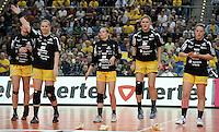 """1. Bundesliga Handball Damen - Frauen Handball BL DHB - Arena Leipzig - HC Leipzig : TSV Bayer 04 Leverkusen """"Handballelfen"""" - im Bild: Anne Ulbricht, Lyksborg , Natalie Augsburg, Maike Daniels (v.l.)  . Foto: Norman Rembarz..Norman Rembarz , Autorennummer 41043728 , Augustenstrt. 2, 04317 Leipzig, Tel.: 01794887569, Hypovereinsbank: BLZ: 86020086, KN: 357889472, St.Nr.: 231/261/06432 - Jegliche kommerzielle Nutzung ist honorar- und mehrwertsteuerpflichtig! Persönlichkeitsrechte sind zu wahren. Es wird keine Haftung übernommen bei Verletzung von Rechten Dritter. Autoren-Nennung gem. §13 UrhGes. wird verlangt. Weitergabe an Dritte nur nach  vorheriger Absprache.."""
