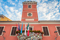 The municipal town hall in the town of Novigrad, Istria County, Croatia