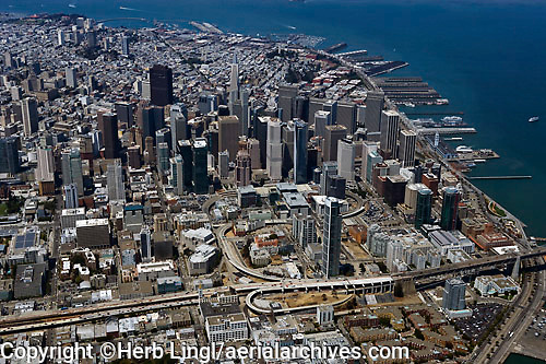 aerial photograph Transbay San Francisco, California aerial photograph San Francisco, California