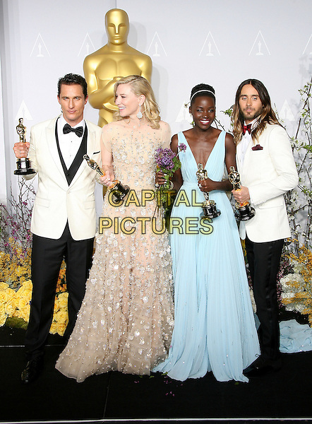 02 March 2014 - Hollywood, California - Matthew McConaughey, Cate Blanchett, Lupita Nyong'o, Jared Leto. 86th Annual Academy Awards held at the Dolby Theatre at Hollywood &amp; Highland Center. <br /> CAP/ADM<br /> &copy;AdMedia/Capital Pictures