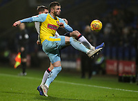 Bolton Wanderers' Andrew Taylor competing with Rotherham United's Anthony Forde<br /> <br /> Photographer Andrew Kearns/CameraSport<br /> <br /> The EFL Sky Bet Championship - Bolton Wanderers v Rotherham United - Wednesday 26th December 2018 - University of Bolton Stadium - Bolton<br /> <br /> World Copyright &copy; 2018 CameraSport. All rights reserved. 43 Linden Ave. Countesthorpe. Leicester. England. LE8 5PG - Tel: +44 (0) 116 277 4147 - admin@camerasport.com - www.camerasport.com
