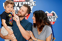 LOS ANGELES - JUL 8:  Cutter Dykstra, Beau Dykstra, Jamie-Lynn Sigler at the Marvel Universe Live Red Carpet at the Staples Center on July 8, 2017 in Los Angeles, CA