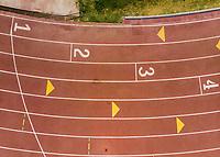 Vista aerea de Complejo deportivo de la Comisión Estatal de Deporte, CODESON en Hermosillo, Sonora....<br /> <br /> Pista de Atletismo. 1, 2, 3, 4, Primero, Segundo, Tercero, Cuarto,  Lugar, Lugares, Orden.<br /> <br /> Photo: (NortePhoto / LuisGutierrez)<br /> <br /> ...<br /> keywords: