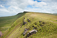 Picws Du and Bannau Sir Gaer; Black mountain; Brecon Beacons national park; Wales