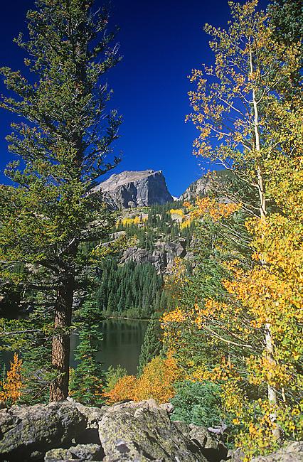 Hallett Peak, Bear Lake, Rocky Mountain National Park, Colorado