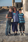 Model released family group on holiday in Morocco, north Africa,