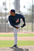 Antwonie Hubbard, Cleveland Indians 2010 minor league spring training..Photo by:  Bill Mitchell/Four Seam Images.