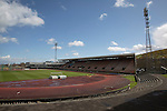 The Commonwealth Stadium at Meadowbank before the Scottish Lowland League match between Edinburgh City and city rivals Spartans, which was won by the hosts by 2-0. Edinburgh City were the 2014-15 league champions and progressed to a play-off to decide whether there would be a club promoted to the Scottish League for the first time in its history. The Commonwealth Stadium hosted Scottish League matches between 1974-95 when Meadowbank Thistle played there.