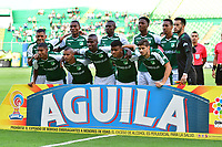 PALMASECA-COLOMBIA,09 -09-2018.Formació del Deportivo Cali contra la  Equidad durante partido por la fecha 9 de la Liga Águila II 2018 jugado en el estadio Deportivo Cali de la ciudad de Palmira./ Team of Deportivo Cali agsint  of Equidad during the match for the date 9 of the Aguila League II 2018 played at Alfonso Lopez  stadium in Palmaseca city. Photo: VizzorImage/ Nelson Rios / Contribuidor