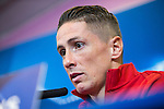 Atletico de Madrid's Fernando Torres during the press conference before the match of UEFA Champions League between Atletico de Madrid and FC Rostov, at Vicente Calderon Stadium,  Madrid, Spain. October 31, 2016. (ALTERPHOTOS/Rodrigo Jimenez)
