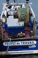 Europe/France/Pays de la Loire/44/Loire-Atlantique/Pornic: Bateau de pêche sur le port - Le profit du travail